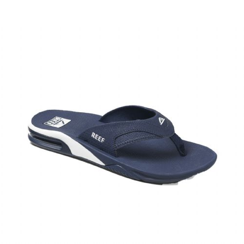 REEF MENS FLIP FLOPS.NEW FANNING NAVY ARCH SUPPORT THONGS SANDALS SHOES 9S 6 NAW